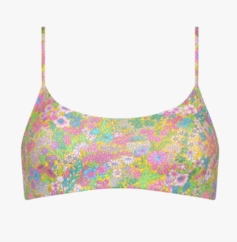Liberty Print Bikini Crop Top Floral
