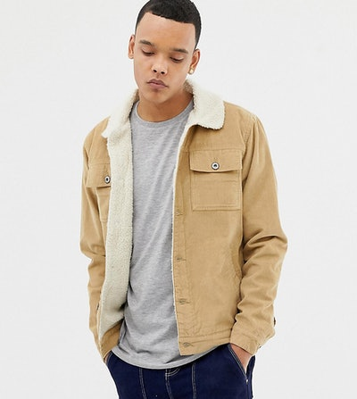 D-Struct TALL Sherpa Lined Cord Trucker Jacket