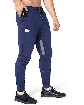 BROKIG Thigh Mesh Gym Pants