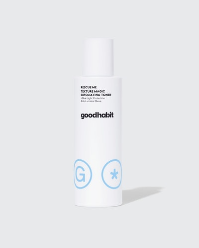 New beauty brand Goodhabit tackles blue light exposure on skin with the rescue me texture magic exfoliating toner