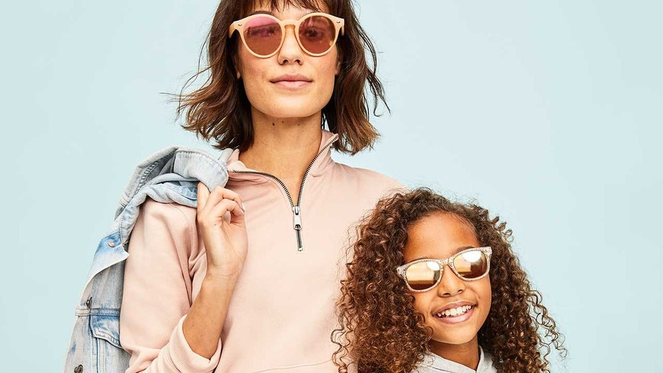 a woman and a girl wearing old navy sale fashions