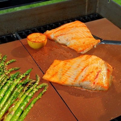 Alto Fresh Premium Large Copper Grill And Bake Mats (Set of 4)