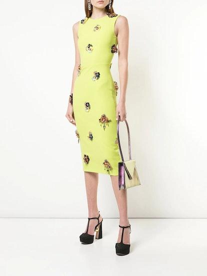 Embellished details dress