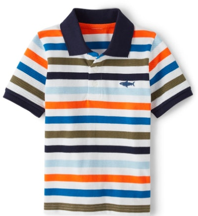 Boys Striped Polo, Whale Hello There