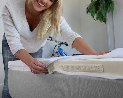 Take Ten Certified Organic 100% Natural Latex Mattress Topper, Queen Size