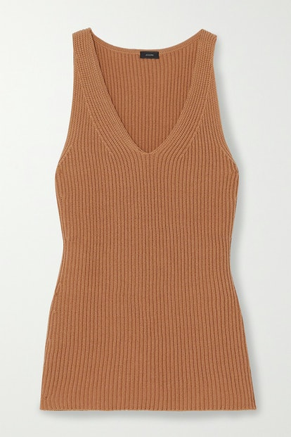 Cote Anglaise ribbed cotton tank