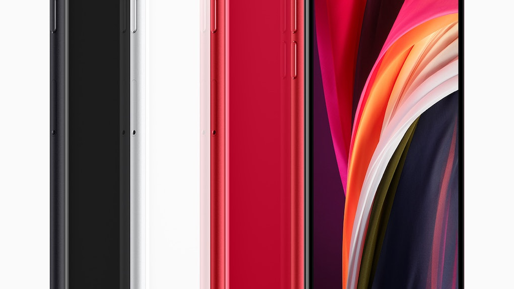 The 2020 iPhone SE looks similar to the iPhone 8 with Touch ID and a 4.7-inch screen.