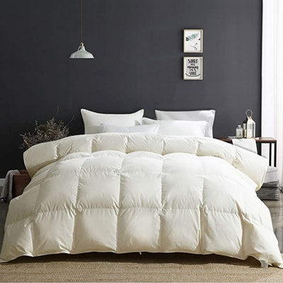 APSMILE All Season Goose Down Comforter (Queen)