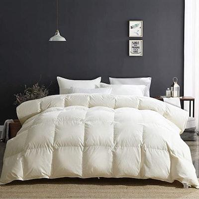 APSMILE All Season Goose Down Comforter (Queen)