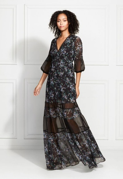 Joni Vine Printed Sheer Maxi Dress