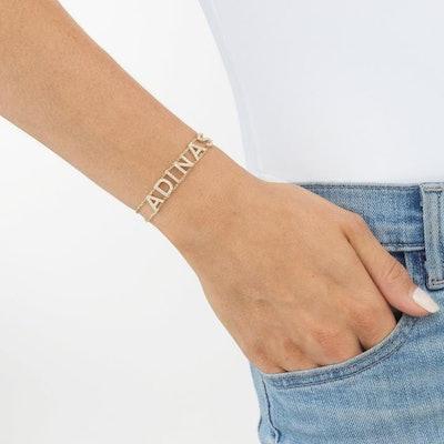 Double Chain Name Bracelet