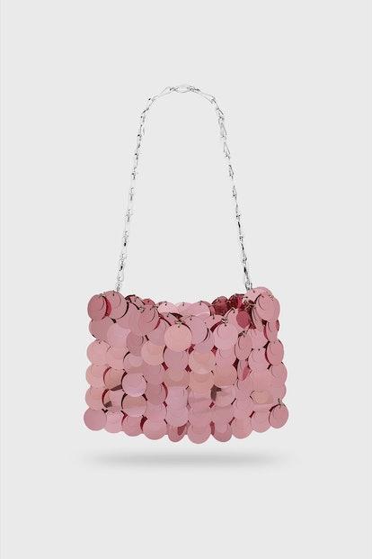 Sparkle pink clutch bag