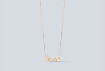 Personalized Diamond Letter Necklace
