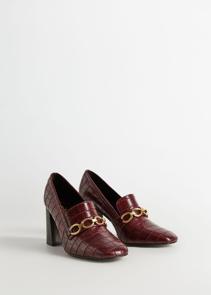 Chain Heeled Loafers