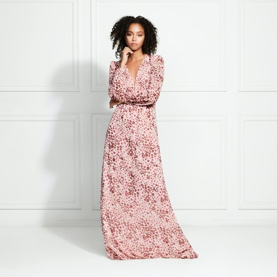 Penelope Floral Leopard Maxi Dress