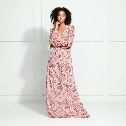 Penelope Floral Leopard Maxi Dress