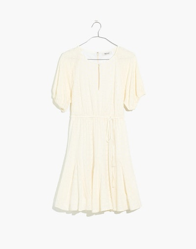 Madewell Eyelet Tassel-Tie Mini Dress
