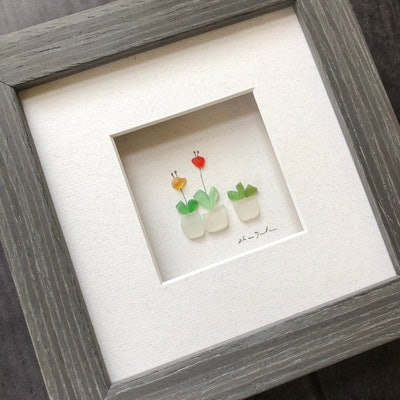Pebble Art, 5 by 5, Sharon Nowlan, Potted Plants