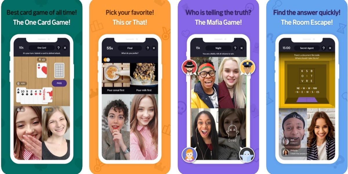 Here are 8 video chat apps to use with your friends include a variety of features, like games and chat capabilties.