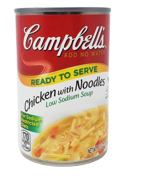 Campbell's Low Sodium Chicken With Noodles Soup 10.75 oz