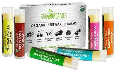 Sky Organics USDA Organic Lip Balm (6-Pack)
