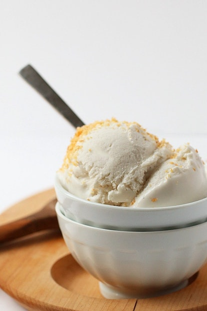Coconut milk ice cream is great to bake when you're out of dairy milk.