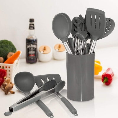 AILUKI Silicone Utensils (14-Piece Set)