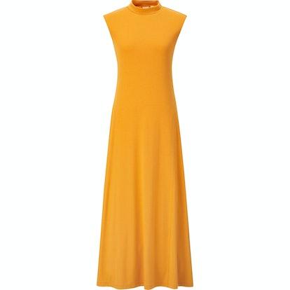 Rayon Crew Neck Sleeveless Dress