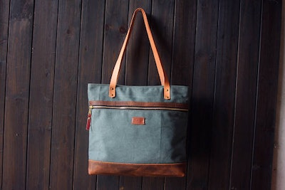Personalized Wax Tote