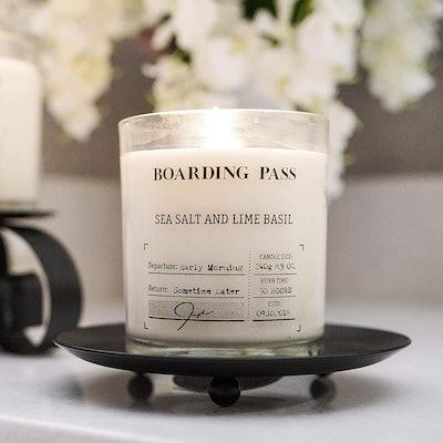 Boarding Pass Sea Salt and Lime Basil Candle