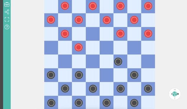 Online Checkers Board