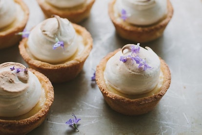 These lemon maple meringue pies are perfect to bake when you're out of milk.