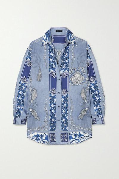 Oversized Paisley Shirt