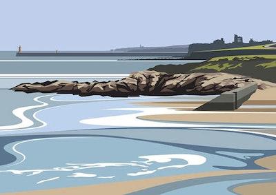 Ocean Print By Ian Mitchell