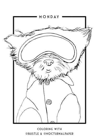 These Printable Coloring Sheets Of Pets Practicing Self ...