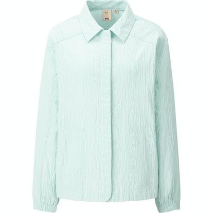 Oxford Oversize Long-Sleeve Long Shirt
