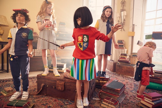 kids wearing mini boden's harry potter clothes