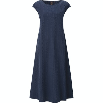 Cotton Dobby French Sleeve Long Dress