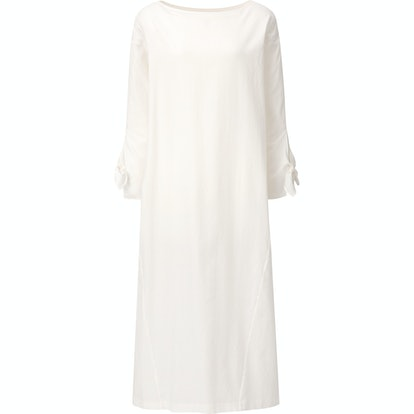 Herringbone Long-Sleeve Long Dress