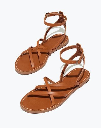 Madewell The Boardwalk Skinny-Strap Sandal