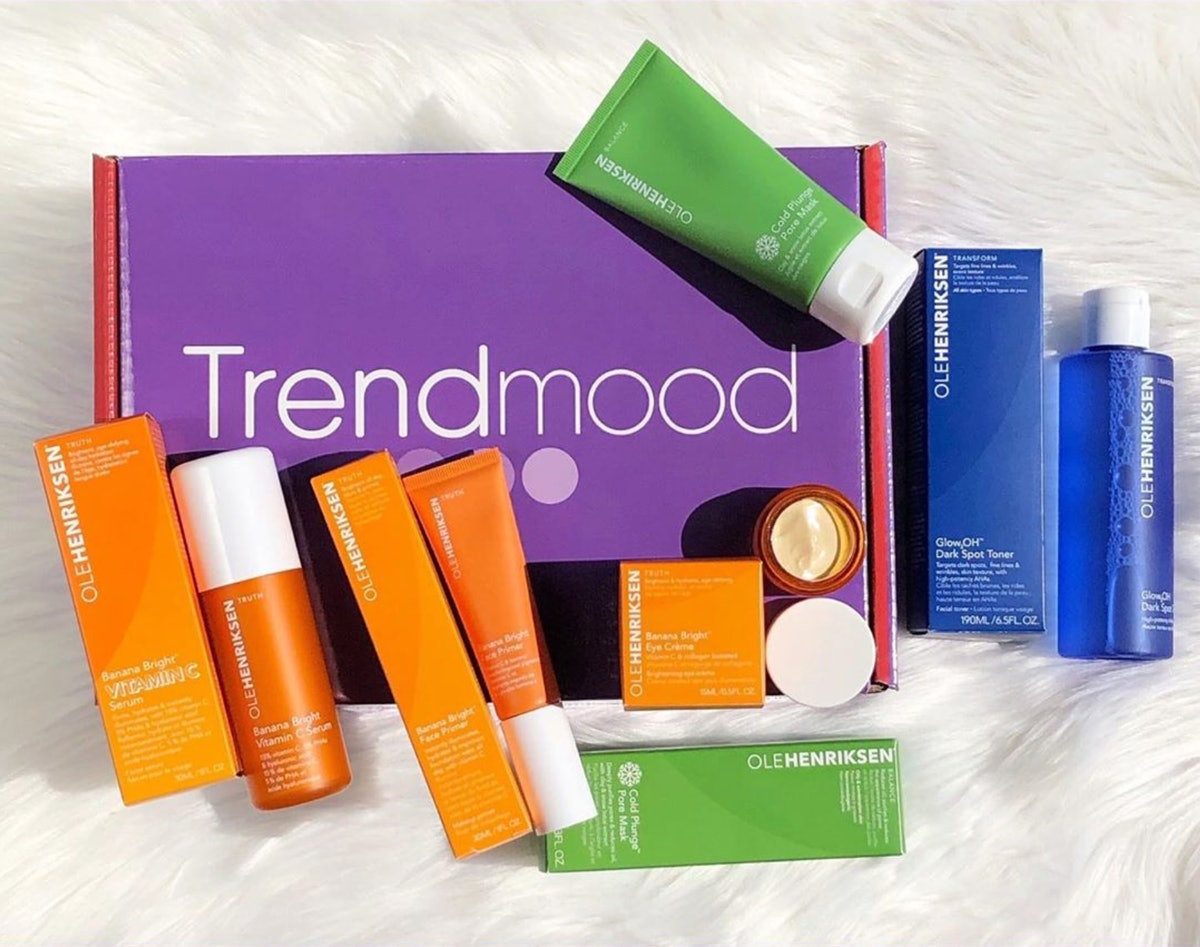 The monthly Trendmood Box comes packed with beauty's best brands, from OLEHENRIKSEN to Farsali, Skinfix, Boscia, and more.
