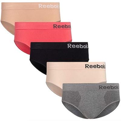 Reebok Womens Seamless Hipster Panties (5-Pack)