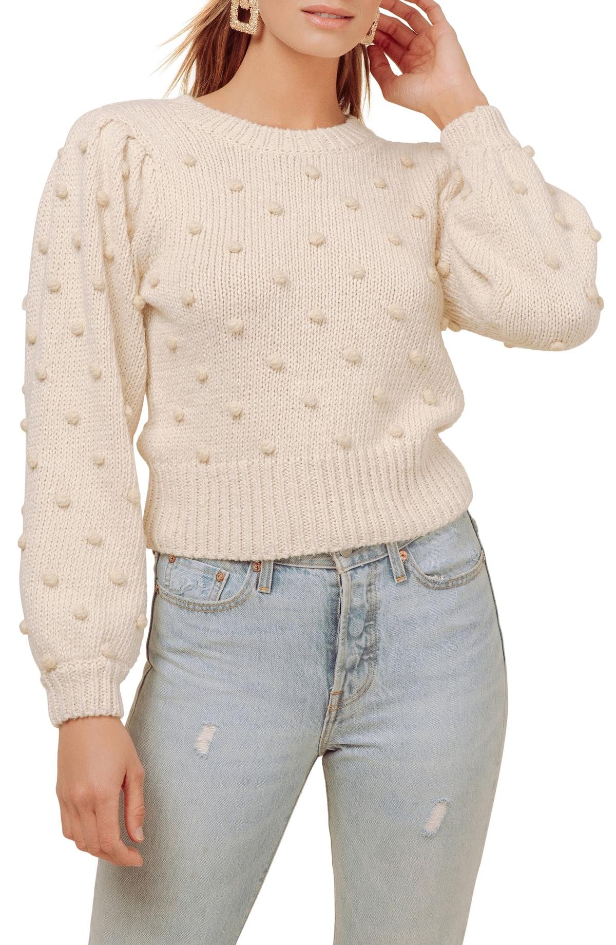 Aidy Pompom Dot Sweater