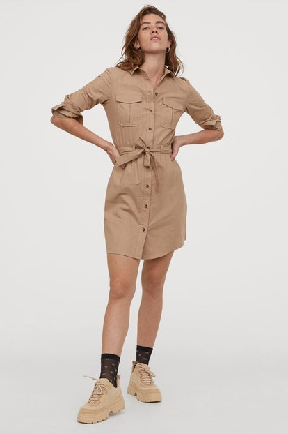 Cotton Utility Dress