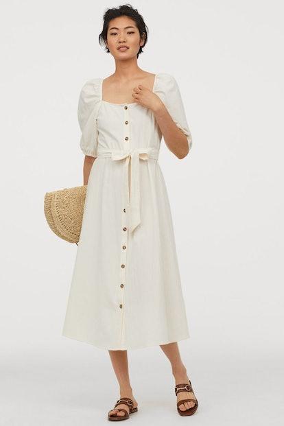 Crêped Cotton Dress