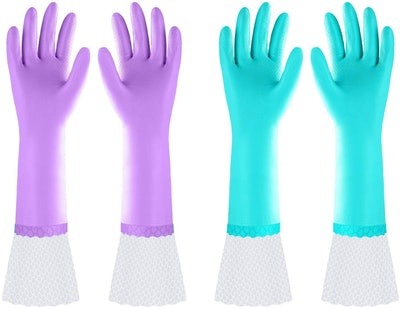 Elgood Long Dishwashing Gloves (2-Pack)