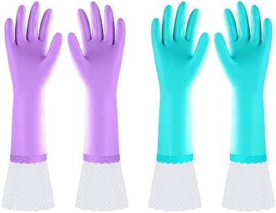 Elgood Long Dishwashing Gloves (2-Pack)