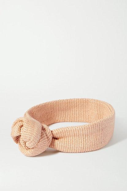 Turband Knotted Cotton-Blend Headband