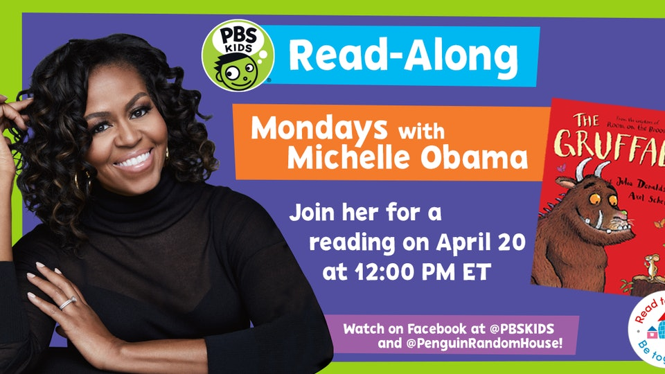 Michelle Obama will read books to kids for the next four Mondays.