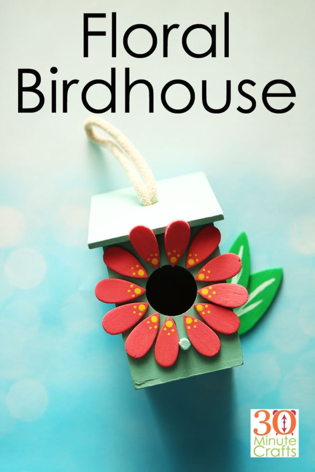DIY Floral Birdhouse